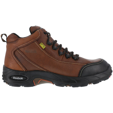 Reebok Mens Brown Leather Internal Met Guard Hiker Tiahawk Comp Toe