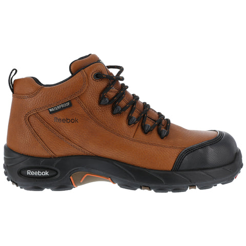 Reebok Mens Brown Leather Waterproof Sport Hiker Tiahawk Composite Toe