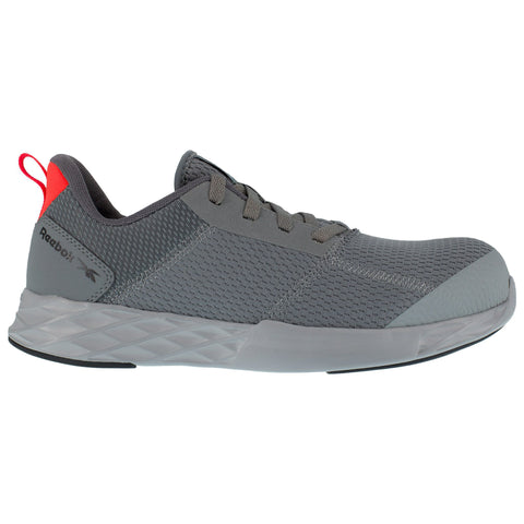 Reebok Mens Grey Mesh Oxfords Astroride Strike Work CT