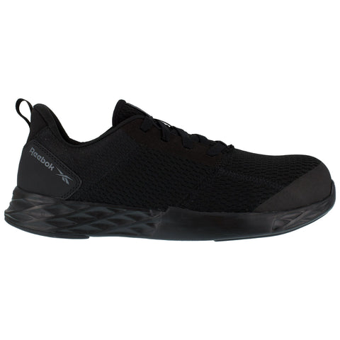 Reebok Mens Black Mesh Oxfords Astroride Strike Work CT