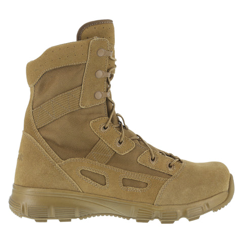 Reebok Mens Coyote Suede Nylon 8in Tactical Boots Hyper Velocity Soft Toe