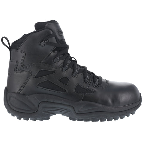 Reebok Mens Black Leather Military Boots RR Stealth 6in CT