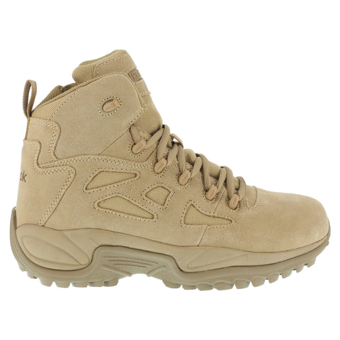 Reebok Mens Desert Tan Suede Tactical Boots Rapid Response RB Comp Toe