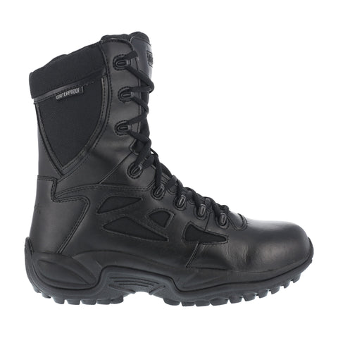 Reebok Womens Black Leather WP Tactical Boots Rapid Response RB Soft Toe