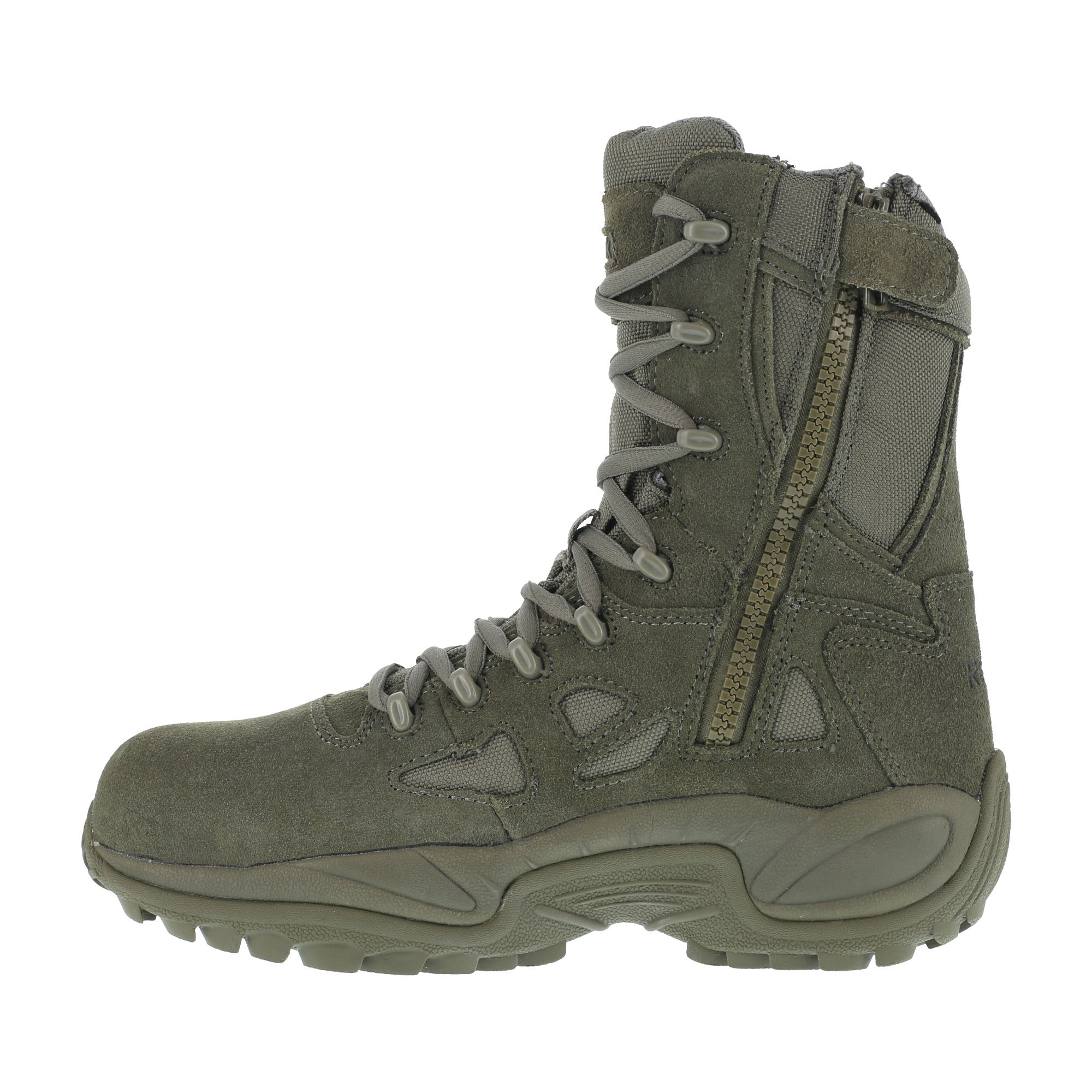 ... Reebok Womens Sage Green Suede Tactical Boots Rapid Response RB Comp Toe  ... 7f3b6fcb9d2e
