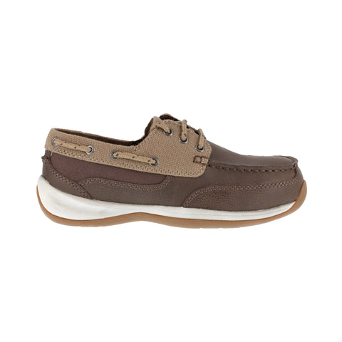 Rockport Womens Brown/Tan Leather Loafers Sailing Club ST