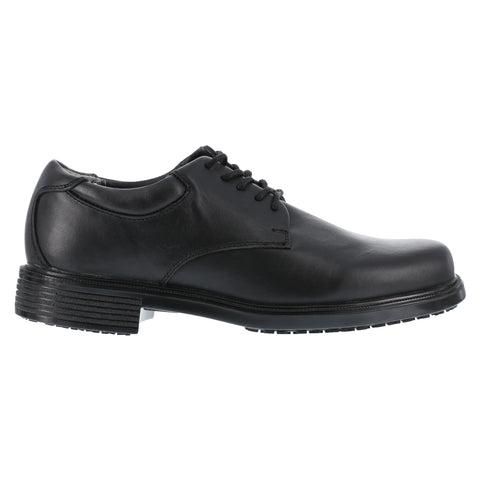 Rockport Mens Black Leather Dress Oxford Work Up Slip Resistant