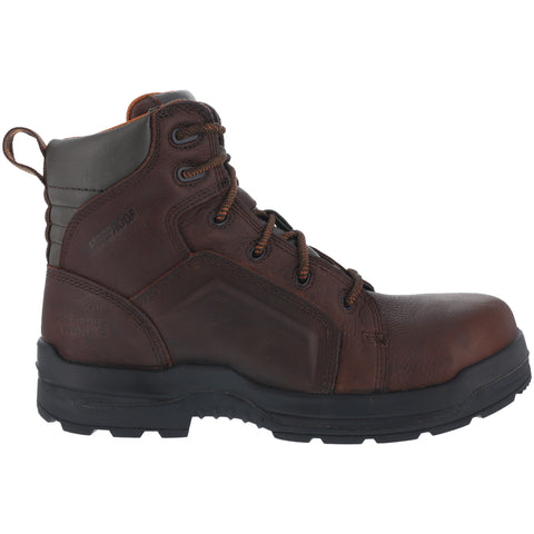 Rockport Womens Brown WP Leather 6in Work Boots More Energy Comp Toe