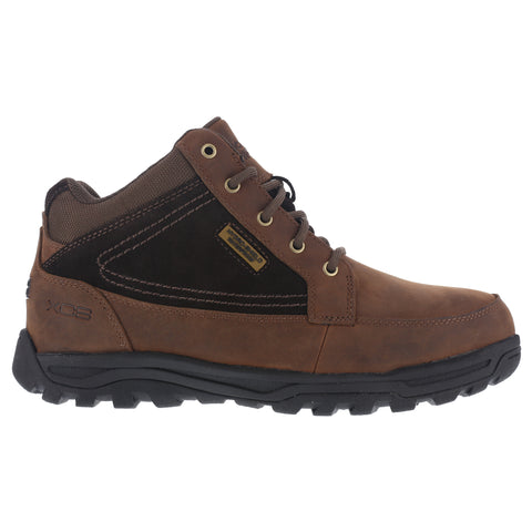 Rockport Mens Brown Leather Work Boots Trail Technique Mid ST LaceUp