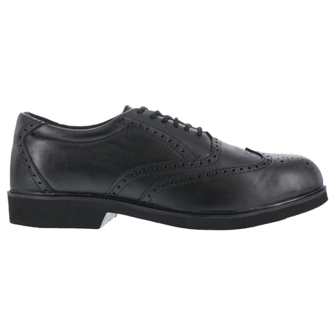 Rockport Mens Black Leather Wing Tip Oxfords Dressports Steel Toe