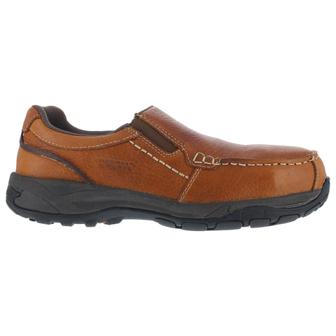 Rockport Mens Brown Leather Casual Loafer Extreme Light Composite Toe