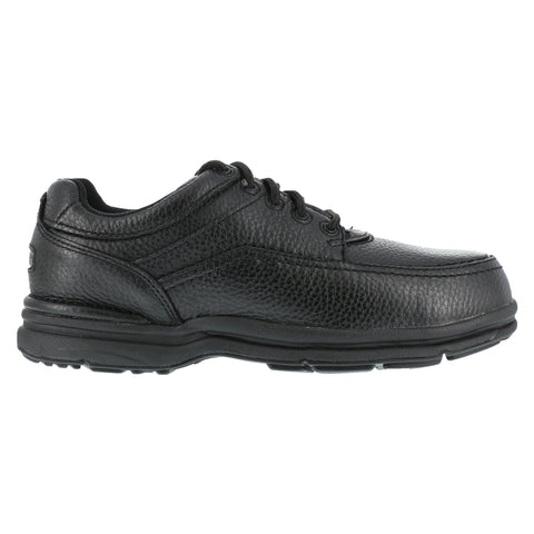 Rockport Mens Black Leather Casual Moc Oxford World Tour Steel Toe