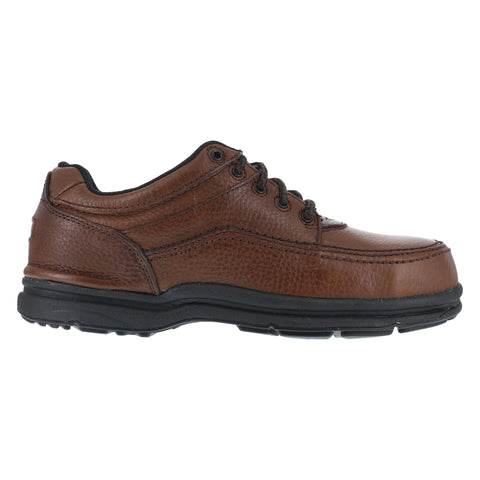 Rockport Mens Brown Leather Casual Moc Oxford World Tour Steel Toe