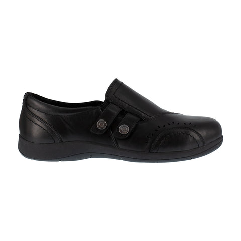 Rockport Womens Black Leather Loafers Daisy Work Slip-On AT