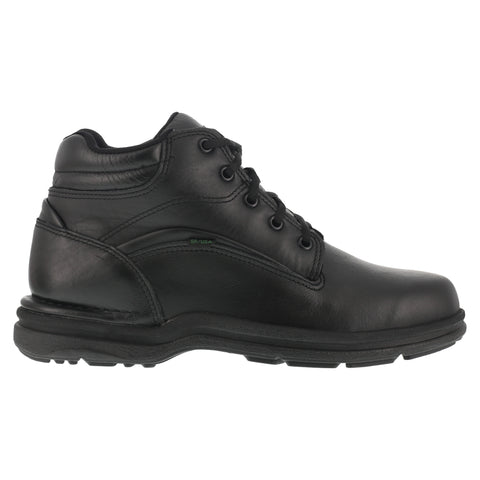 Rockport Mens Black Leather Work Boots Postwalk Water Resistant Sport