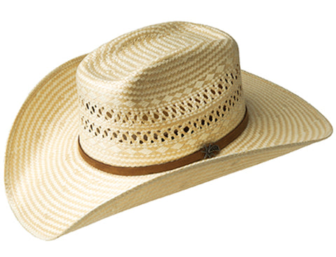 Bailey Fields Natural/Tan Unisex Straw Western Hat Brick 4X
