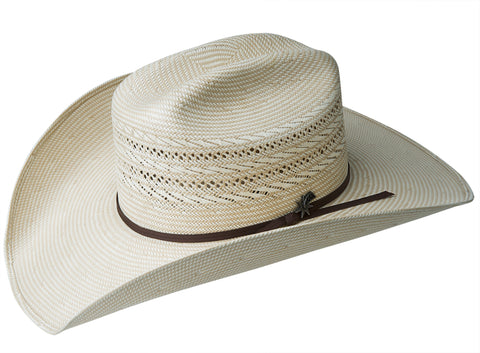 a9cec79a4f27f Bailey Vinton Natural Silverbelly Unisex Straw Western Hat Rodeo 20X ...