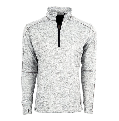 STS Ranchwear Mens Quarter Zip Polyester Pullover Heather Gray