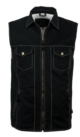 STS Ranchwear Youth Arena Canvas Vest Black
