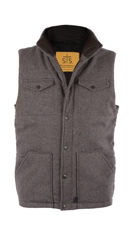 STS Ranchwear Mens Bodie Wool Vest Grey Lined