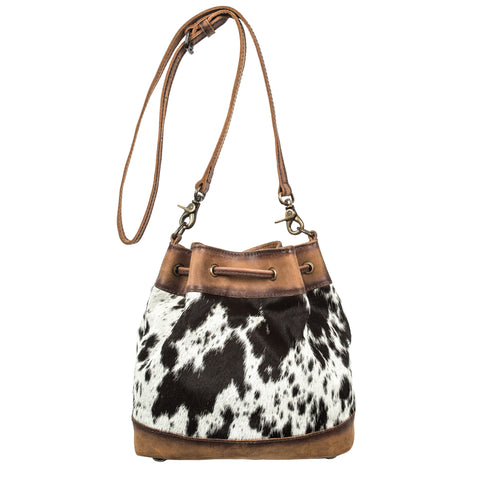 STS Ranchwear Ladies Bag Leather Bucket Cowhide 9x10x3.75
