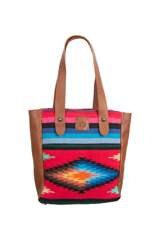 STS Ranchwear Fiesta Tote Ladies Fabric Handbag Serape