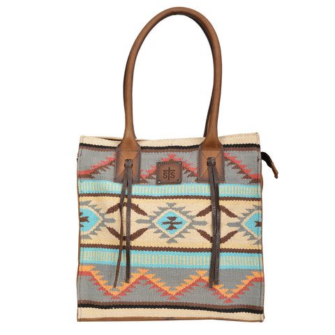 STS Ranchwear Ladies Serape Large Chaps Leather Tote Sedona 14x14x7