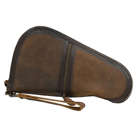 STS Ranchwear Mens Foreman Medium Leather Pistol Case Brown 12x7x1