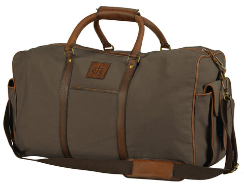 STS Ranchwear FOREMAN Travel Bag Dark Brown Canvas