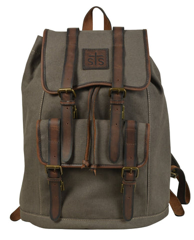 STS Ranchwear FOREMAN Dark Brown Canvas Backpack