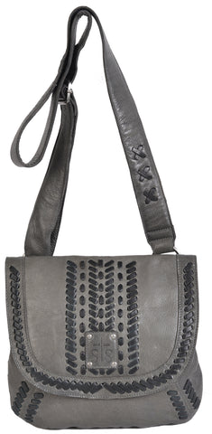 STS Ranchwear Marlowe Daydreamer Mens Leather Handbag Charcoal