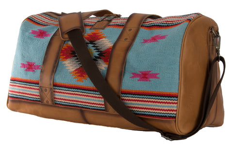 STS Ranchwear Duffle Bag Ladies Fabric Travel Saltillo Serape
