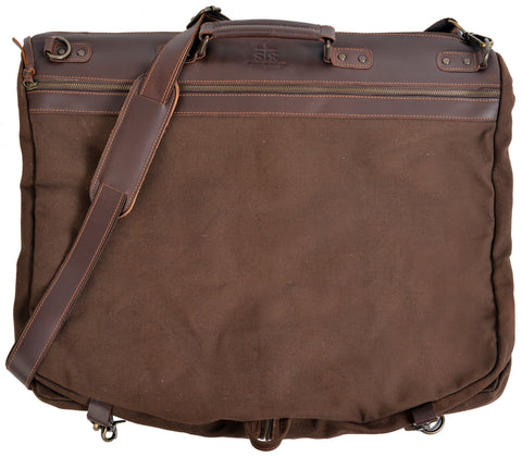 STS Ranchwear Garment Bag Mens Canvas Chocolate
