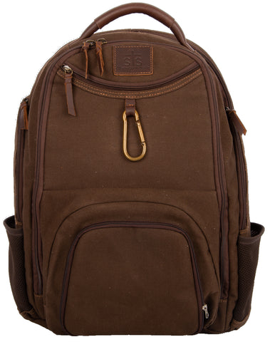 STS Ranchwear Utility Backpack Ladies Canvas Chocolate