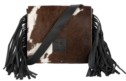STS Ranchwear Miss Kitty Ladies Leather Crossbody Bag Cowhide/Black