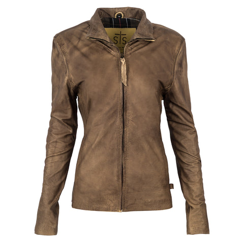 STS Ranchwear Ladies Sibella Leather Jacket Cream Beige