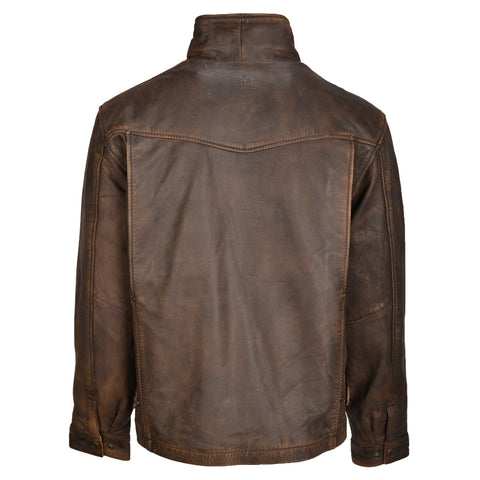 STS Ranchwear Rifleman Mens Leather Jacket Tobacco Brown