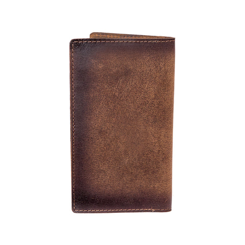 STS Ranchwear Mens Foremans Long Bifold Leather Wallet Brown 3.5x6.25
