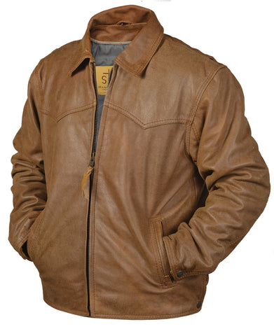 STS Ranchwear The Vegas Mens Leather Jacket Buckskin