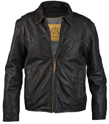 STS Ranchwear The Vegas Mens Leather Jacket Black