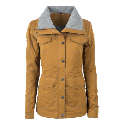 STS Ranchwear Ladies Swayzi Cotton Blend Work Coat Dark Khaki
