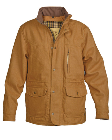 STS Ranchwear Mens Smitty Wool Barn Jacket Camel