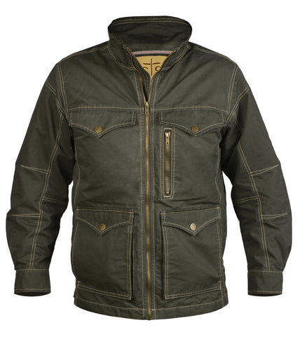 STS Ranchwear Mens Sundance Cotton Jacket Loden Lightweight