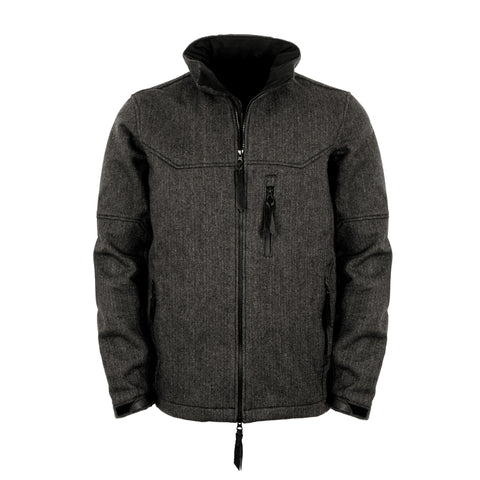 STS Ranchwear Mens Stone Wool Jacket Black Field