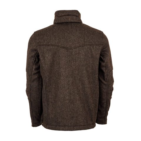 STS Ranchwear Mens Stone Wool Jacket Chocolate Field