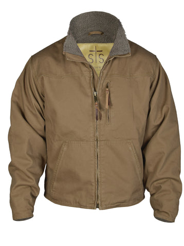 STS Ranchwear Mens Bridger Canvas Jacket Mushroom Sherpa
