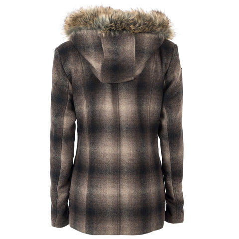 STS Ranchwear Ladies Story Wool Blend Jacket Brown Plaid