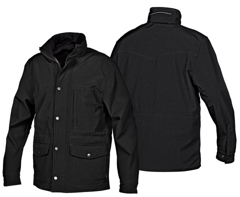STS Ranchwear Mens Brazos Softshell Jacket Black Hooded Fleece