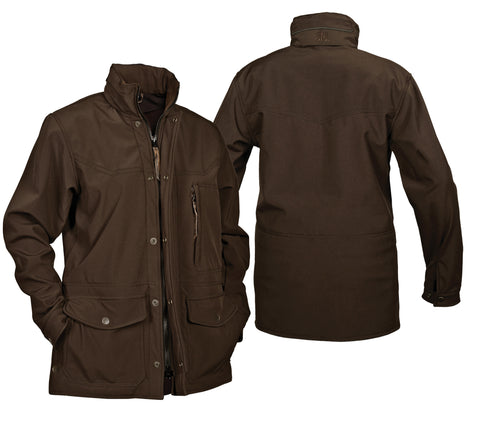 STS Ranchwear Mens Brazos Softshell Jacket Brown Hooded Fleece