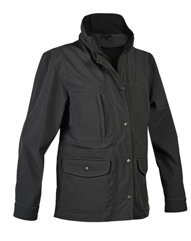 STS Ranchwear Ladies Brazos Softshell Barn Jacket Black